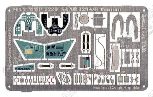 MMP7229 J 29A/B Tunnan Detail Set (pre-painted in colour)