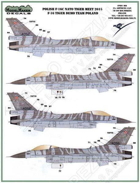 MOD48061 F-16C Fighting Falcon NATO Tiger Meet 2015