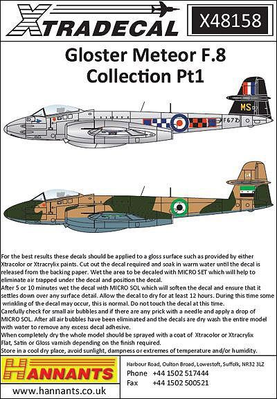 XD48158 Meteor F.8 Collection Part 1