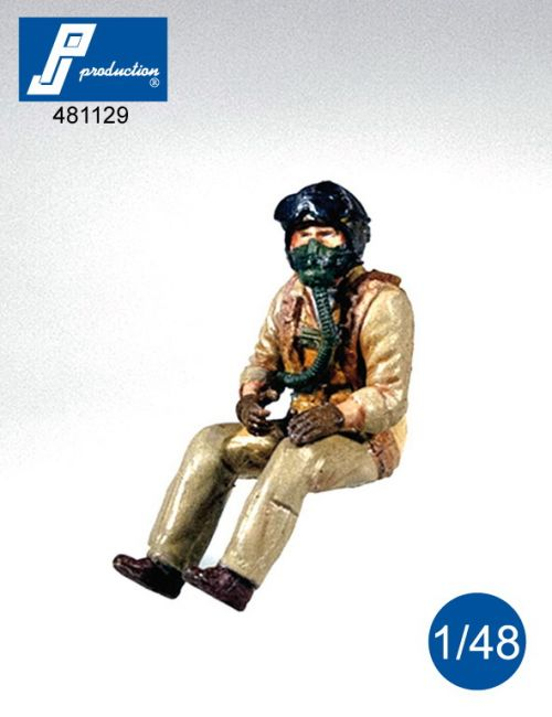 PJ481129 Pilot U.S. Navy/French Navy 1950s, seated