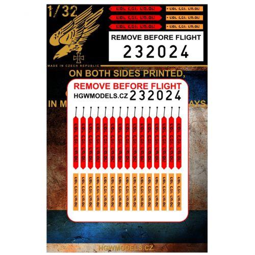 HG232024 Remove before Flight Tags (Israel)