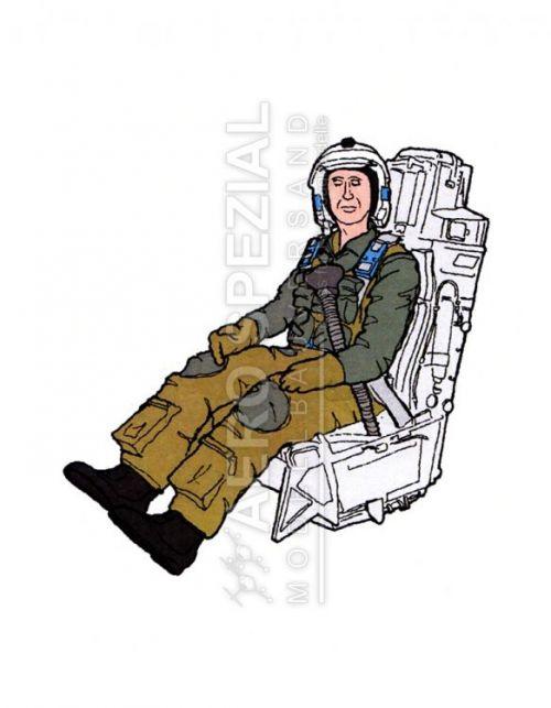 AB32117 Jetpilot U.S. Air Force im Schleudersitz für F-15 Eagle