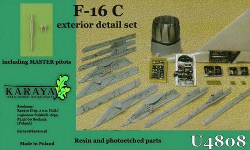 KYU4808 F-16C Fighting Falcon Außendetails-Set