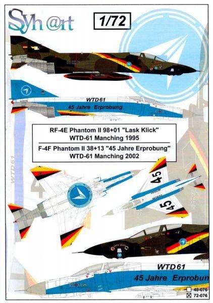 SY72076 F-4F Phantom II & RF-4E Phantom II Special Schemes WTD 61