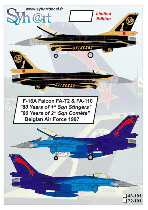 SY48101 F-16A Fighting Falcon No. 1 & No. 2 Sqn belgische Luftwaffe
