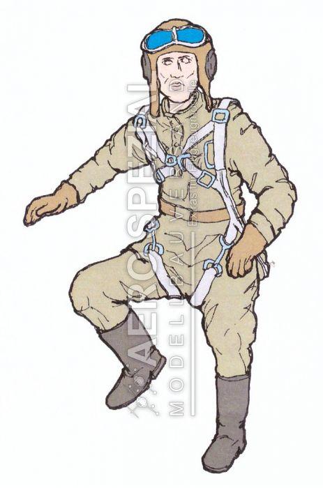 AB32120 Pilot russische Luftwaffe WK II
