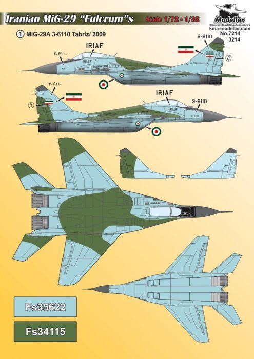 KMA3214 MiG-29 Fulcrum iranische Luftwaffe