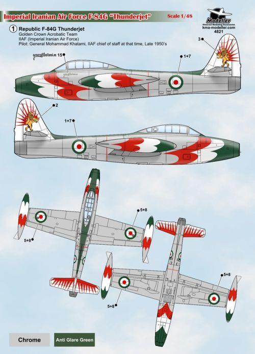 KMA4819 F-84G Thunderjet iranische Luftwaffe