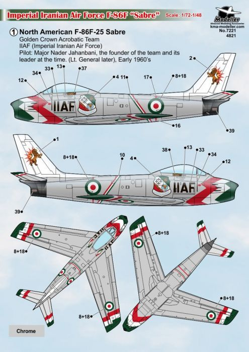 KMA7221 F-86F Sabre iranische Luftwaffe