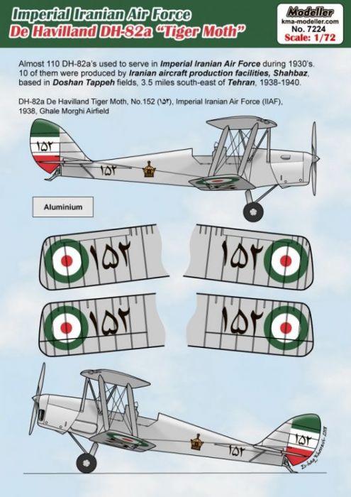 KMA7224 DH.82A Tiger Moth iranische Luftwaffe