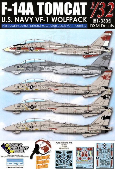 DXM32007 F-14A Tomcat VF-1 Wolfpack