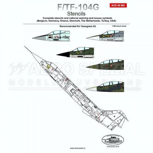 ACD48002 F/TF-104G Starfighter Stencils