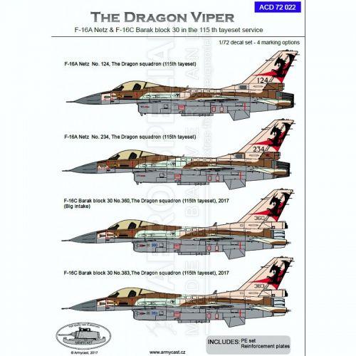 ACD72022 F-16A Netz & F-16C Block 30 Barak israelische Luftwaffe