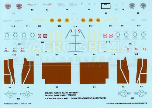 CMB48001 FB-111A Aardvark RAM-Panels und Stencils