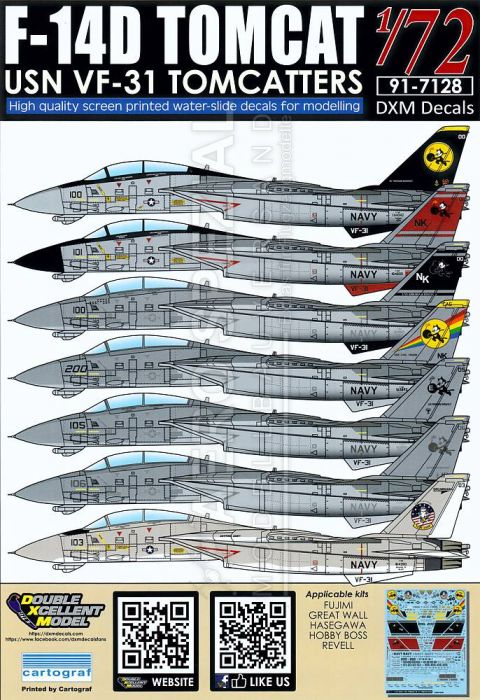 DXM72028 F-14D Tomcat VF-31 Tomcatters
