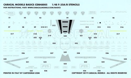 CMB48005 F-35A/B Lightning II Stencils