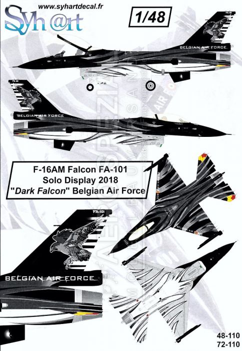 SY48110 F-16AM Fighting Falcon Solo Display Dark Falcon