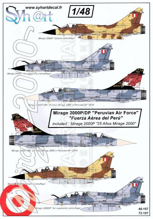 SY72107 Mirage 2000P/DP Peruvian Air Force