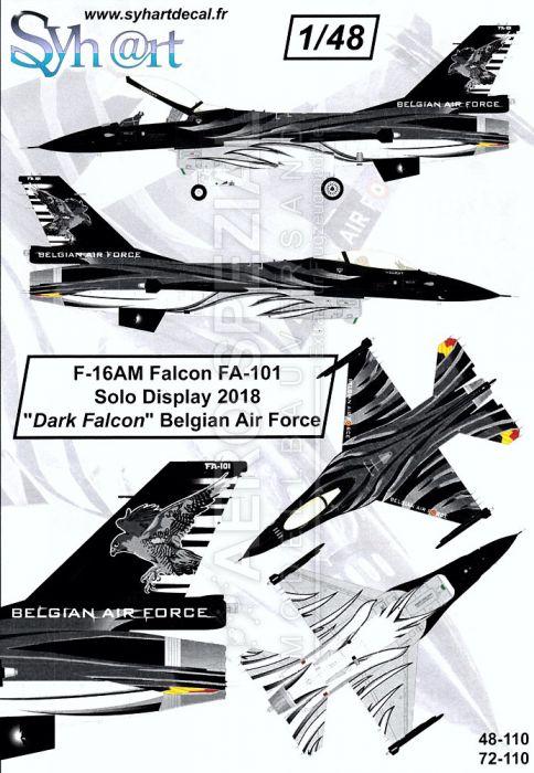 SY72110 F-16AM Fighting Falcon Solo Display Dark Falcon