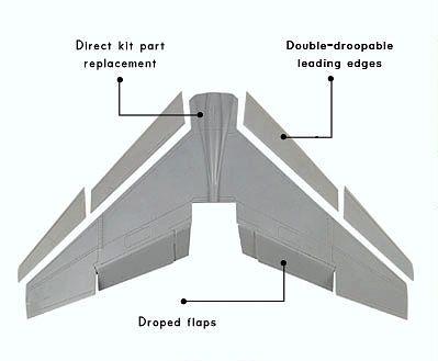 OBS72011 F-8E Crusader Tragflächen