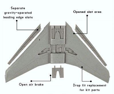 OBS72012 F-100D/F Super Sabre Tragflächen