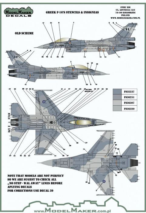 MOD72125 F-16 Fighting Falcon griechische Luftwaffe