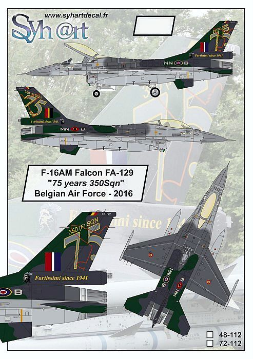 SY48112 F-16AM Fighting Falcon 75 Years No. 350 Sqn