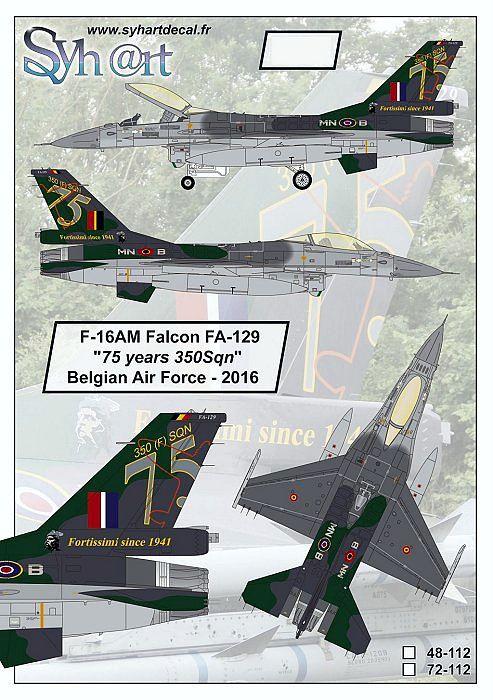 SY48112 F-16AM Fighting Falcon 75 Jahre No. 350 Sqn