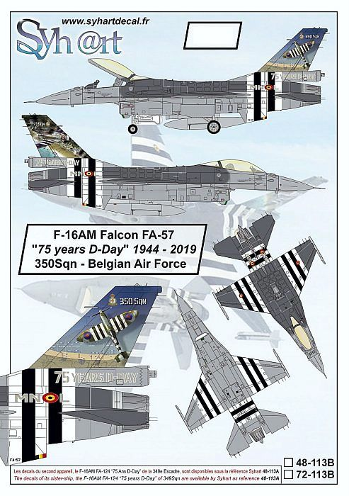 SY48113B F-16AM Fighting Falcon 75 Years D-Day No. 350 Sqn