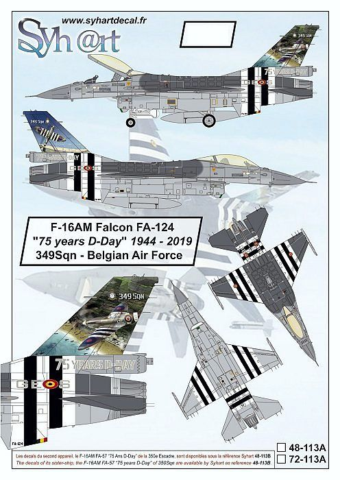 SY72113A F-16AM Fighting Falcon 75 Years D-Day No. 349 Sqn