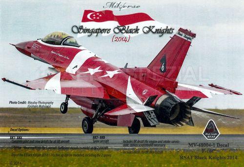 MV480041 F-16C Block 52 Fighting Falcon Aerobatic Team Black Knights