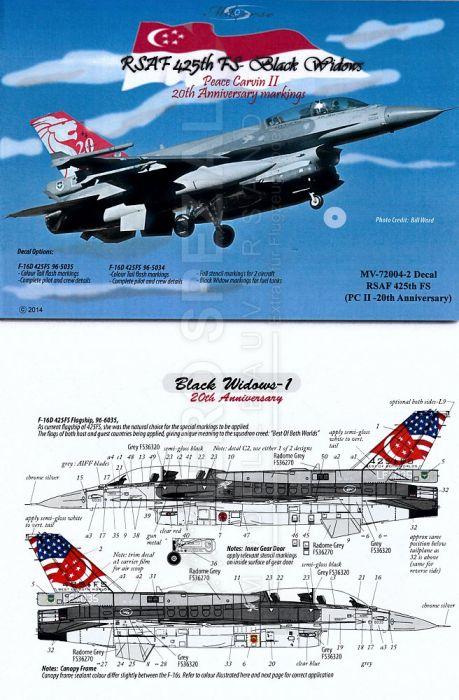 MV720042 F-16D Block 52 Fighting Falcon Black Widows