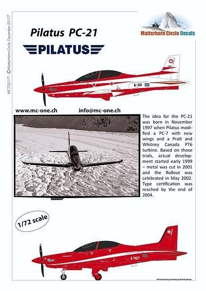 MC72017 Pilatus PC-21 Swiss Air Force