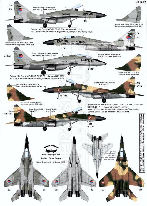 BD32062 MiG-29 Fulcrum afrikanische Luftstreitkräfte