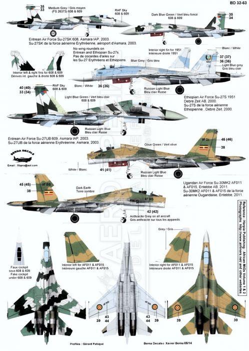 BD32063 Su-27 Flanker afrikanische Luftstreitkräfte