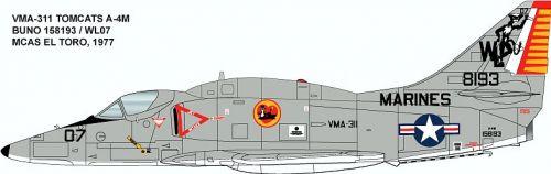 CMS3230 A-4M Skyhawk VMA-311 Tomcats