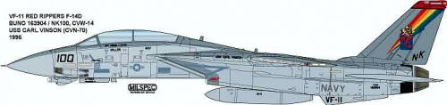 CMS4841 F-14D Tomcat VF-11 Red Rippers