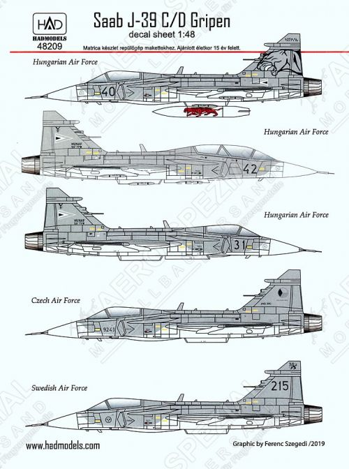 HU48209 JAS-39 Gripen International