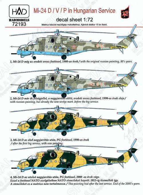 HU72193 Mi-24D Hind-D Hungarian Air Force