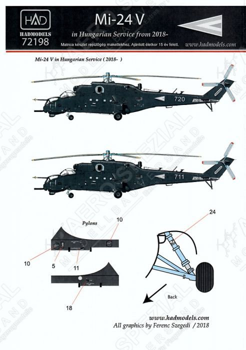 HU72198 Mi-24V Hind-E Hungarian Air Force