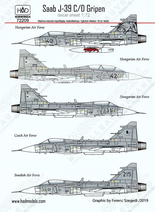 HU72209 JAS-39 Gripen International