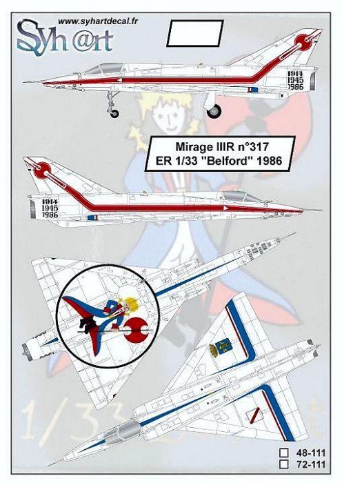 SY48111 Mirage IIIR ER 1/33 Belfort