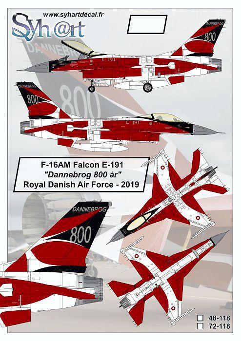 SY48118 F-16AM Block 5-10 Fighting Falcon Dannebrog 800 Years