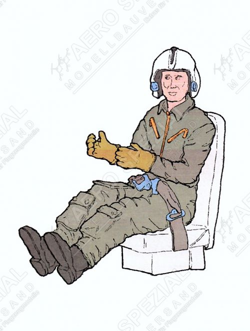 AB32142 Pilot U.S. Air Force in Seat for O-2A Skymaster