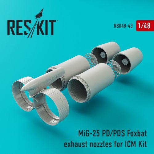 RSU480043 MiG-25P Foxbat-A Exhaust Nozzles