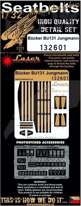 HG132601 Bü 131 Jungmann Seat Belts