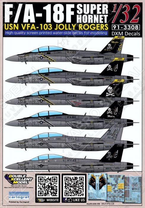 DXM32010 F/A-18F Super Hornet VFA-103 Jolly Rogers