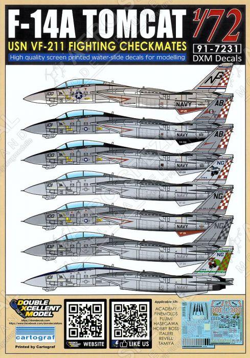 DXM72030 F-14A Tomcat VF-211 Checkmates