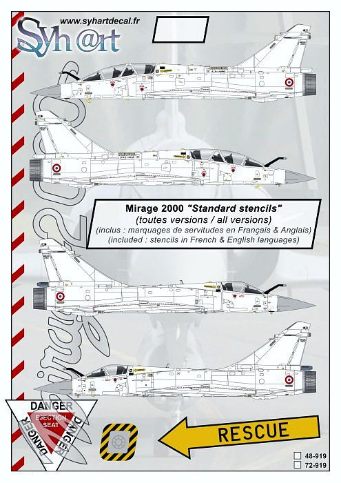 SY48919 Mirage 2000 Roundels and Stencils