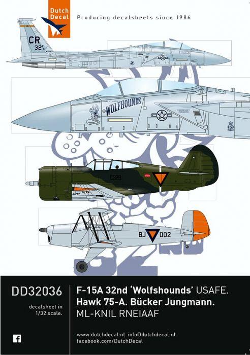 DD32036 F-15 Eagle, Bü 131 Jungmann & Hawk 75